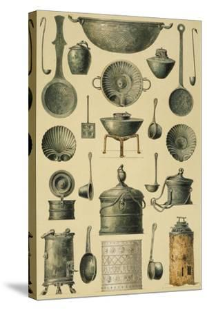 Reproduction of Cooking Utensils-Fausto and Felice Niccolini-Stretched Canvas Print