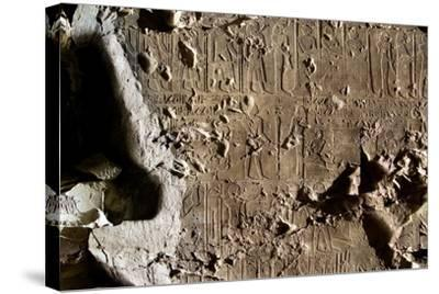 Tomb of First Herald Duaerneheh, Relief Decoration--Stretched Canvas Print