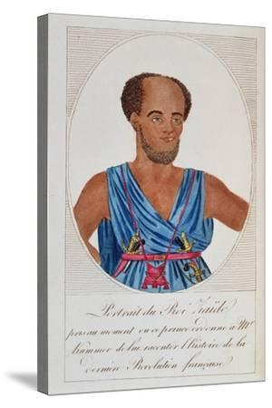 King Zaide, Senegal, Frontispiece of 'Naufrage De La Frégate La Méduse'--Stretched Canvas Print