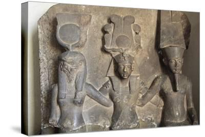 Stele of Horemheb's Coronation--Stretched Canvas Print