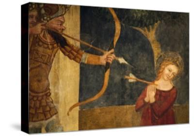 Martyrdom of St Ursula-Ainardo Da Vigo-Stretched Canvas Print
