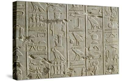 Tomb of Ramses II, Relief of Hieroglyphics Illustrating Litany of Ra from 19th Dynasty--Stretched Canvas Print
