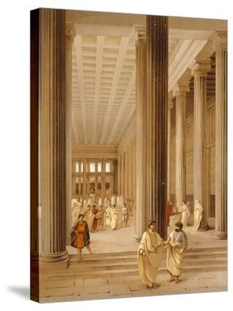 Reproduction of the Interior of the Basilica-Fausto and Felice Niccolini-Stretched Canvas Print