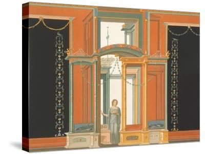 Reproduction of a Fresco from a Wall of the Pantheon-Fausto and Felice Niccolini-Stretched Canvas Print