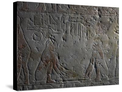Preparation of Papyri--Stretched Canvas Print