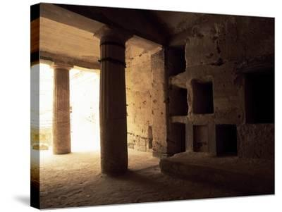 Interior of Tomb 1 with Peristyle--Stretched Canvas Print