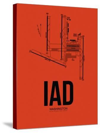 IAD Washington Airport Orange-NaxArt-Stretched Canvas Print