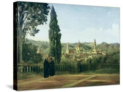 View of Florence from the Boboli Gardens-Jean-Baptiste-Camille Corot-Stretched Canvas Print