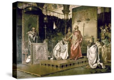 Conversion of Recared I, the Visigothic King of Hispania 587-Antonio Munoz Degrain-Stretched Canvas Print