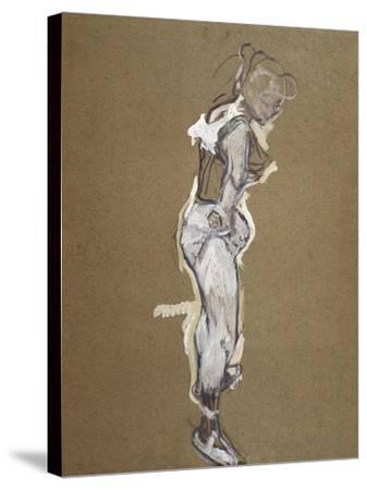 Trapeze Artist Dressing-Henri de Toulouse-Lautrec-Stretched Canvas Print