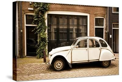 Vintage Citroen on a Street in Amsterdam, Netherlands-Carlo Acenas-Stretched Canvas Print