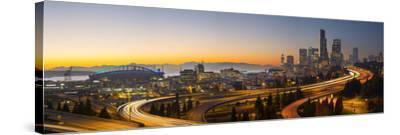 USA, Washington. Seattle Skyline Near the 12th Street Bridge-Gary Luhm-Stretched Canvas Print