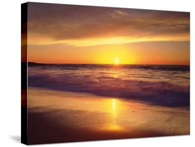 USA, California, San Diego. La Jolla Shores Beach Reflects the Sunset-Jaynes Gallery-Stretched Canvas Print