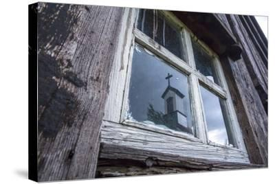 Iceland, Southern Land, Church Reflected in a House Window-Gavriel Jecan-Stretched Canvas Print