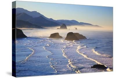 Haystack Rock from Ecola State Park, Oregon Coast-Craig Tuttle-Stretched Canvas Print