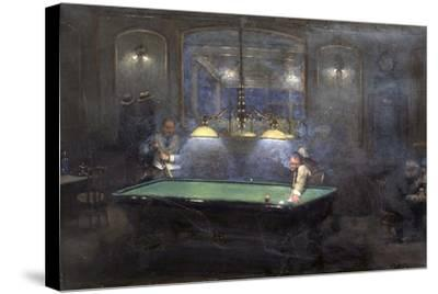 La Partie de billard-Jean B?raud-Stretched Canvas Print