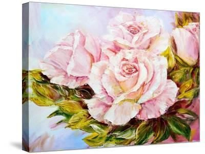 Beautiful Roses, Oil Painting on Canvas-Valenty-Stretched Canvas Print