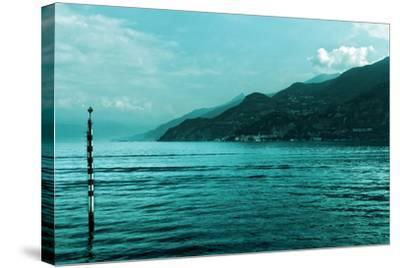Buoy in Lake Como Near Bellagio Italy--Stretched Canvas Print