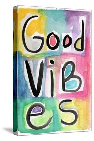 Good Vibes-Linda Woods-Stretched Canvas Print