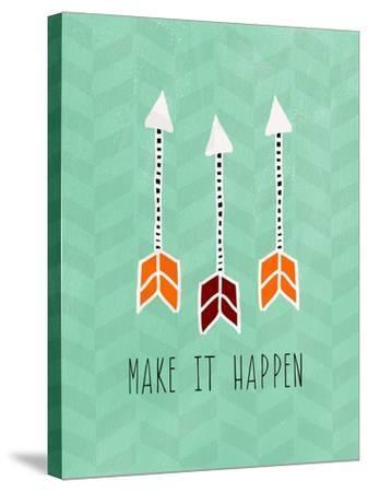 Make it Happen-Linda Woods-Stretched Canvas Print