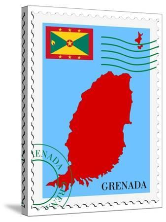 Mail To-From Grenada-Perysty-Stretched Canvas Print