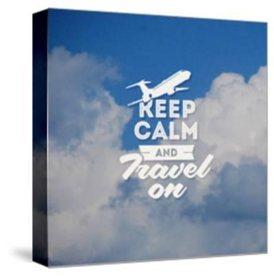 Travel Type Design with Clouds Background-vso-Stretched Canvas Print