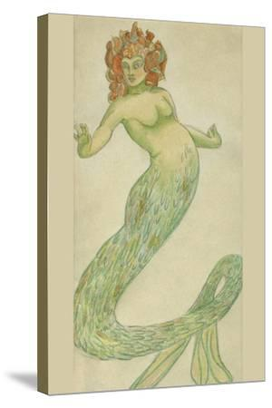 Mermaid-Hannes Bok-Stretched Canvas Print