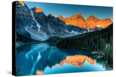 Moraine Lake Sunrise-Andrey Popov-Stretched Canvas Print