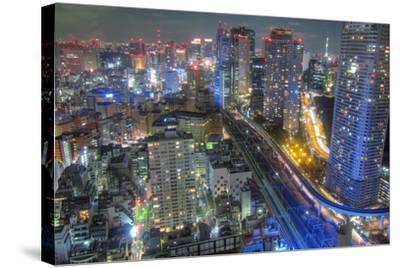 Night View of Tokyo-Takashi Fujimori-Stretched Canvas Print