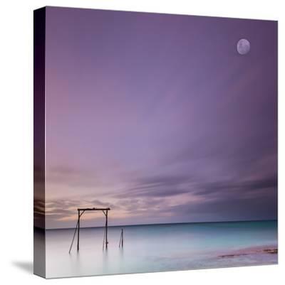 Heron Island Gantry-Bruce Hood-Stretched Canvas Print