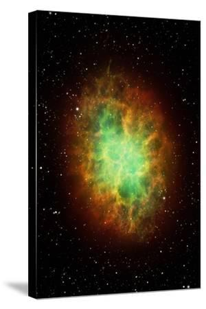Artwork of the Crab Nebula (M1)-Science Photo Library - MARK GARLICK-Stretched Canvas Print