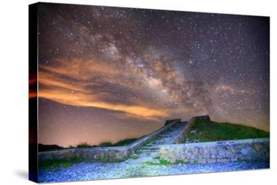 Milky Way Galaxy-chenning.sung @ Taiwan-Stretched Canvas Print