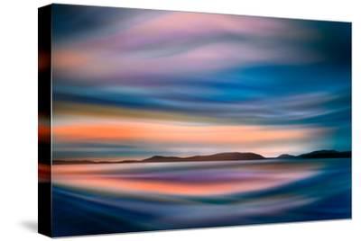 Coastlines (In Blue)-Ursula Abresch-Stretched Canvas Print