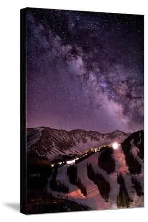 Starlight Mountain Ski Hill-Mike Berenson / Colorado Captures-Stretched Canvas Print