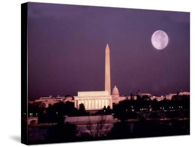 Washington with a Full Moon-Lyle Leduc-Stretched Canvas Print