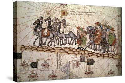 The Silk Road Crossed by Marco Polo--Stretched Canvas Print