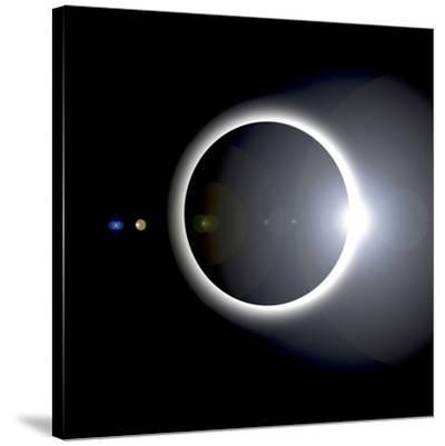 An Artist's Depiction of a Solar Eclipse--Stretched Canvas Print