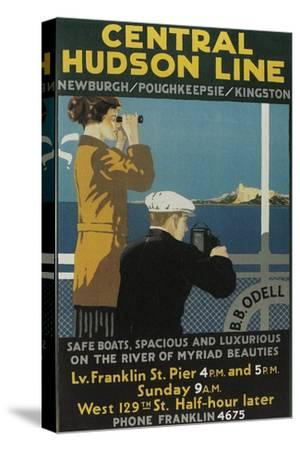 Travel Poster, Central Hudson Line-Found Image Press-Stretched Canvas Print