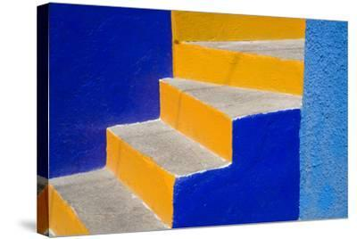 Colorful Stairs-Julie Eggers-Stretched Canvas Print
