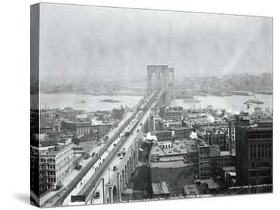 Brooklyn Bridge from World Building--Stretched Canvas Print