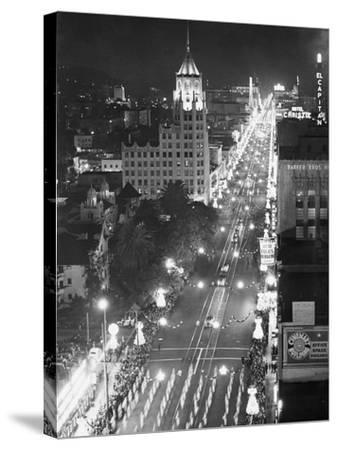 Hollywood Boulevard-Philip Gendreau-Stretched Canvas Print