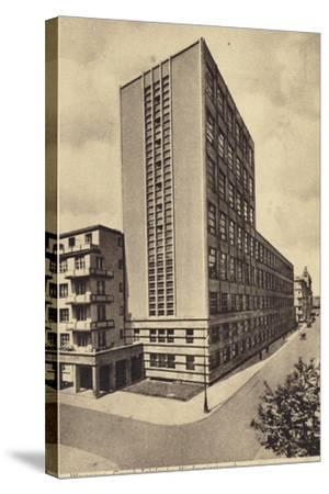 Central Long Distance Telephone Service Office Building, Warsaw--Stretched Canvas Print