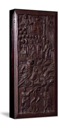 Panel from Wooden Door of Basilica of St Sabine, Rome, Italy, 5th Century--Stretched Canvas Print