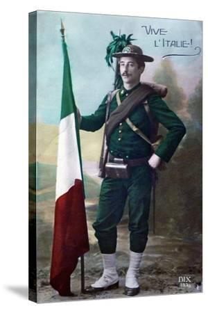 Long Live Italy, 1915--Stretched Canvas Print
