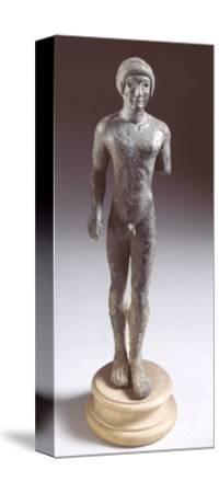 Bronze Statuette Depicting a Kouros, Front View, 480-460 BC--Stretched Canvas Print