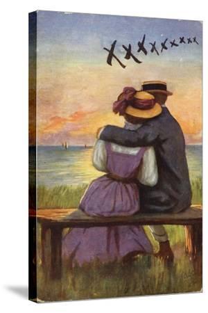 Kisses--Stretched Canvas Print