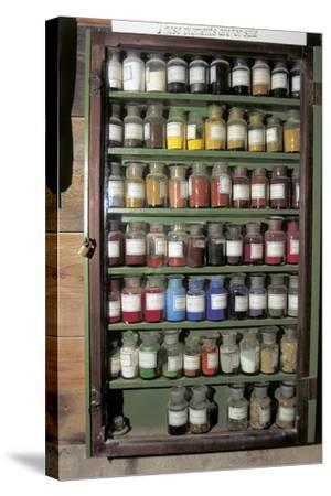 Production of Colour Pigments--Stretched Canvas Print