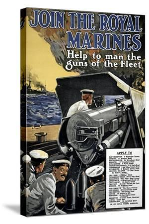 """""""Join the Royal Marines"""", 1915--Stretched Canvas Print"""