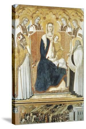Italy, Siena, Madonna with Angels and Saints--Stretched Canvas Print