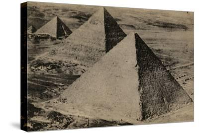 The Pyramids of Giza, Egypt--Stretched Canvas Print